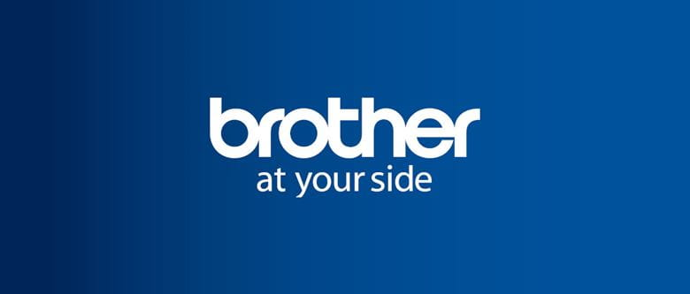 logo Brother at your side su sfondo blu