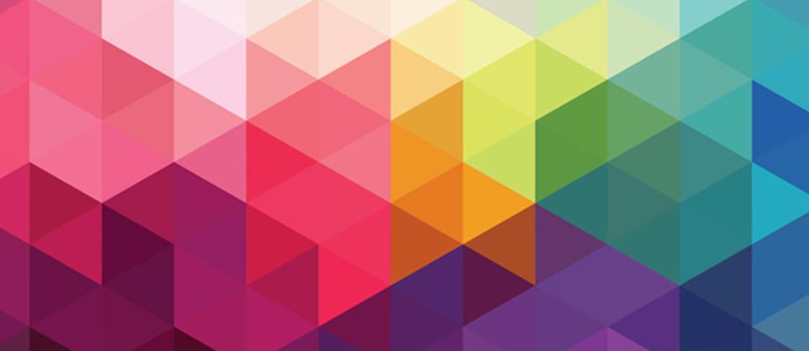 scala di colori con figure geometriche