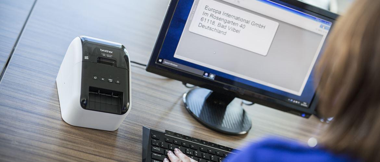 Etichetta stampata da PC con stampante di etichette Brother QL-800