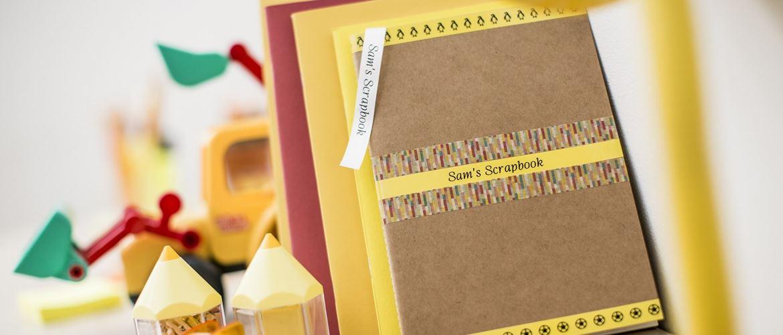 Quaderno etichettato con etichettatrice Brother