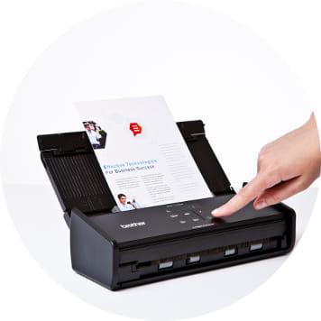 Foglio scannerizzato con scanner compatto Brother ADS-1100W
