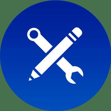 Logo blu per assistenza MPS