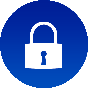 Icona con simbolo lucchetto per sicurezza