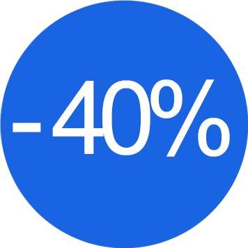 Risparmio del 40%