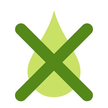 Icon con goccia di inchiostro barrata