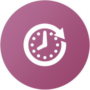 Icona tempo con orologio