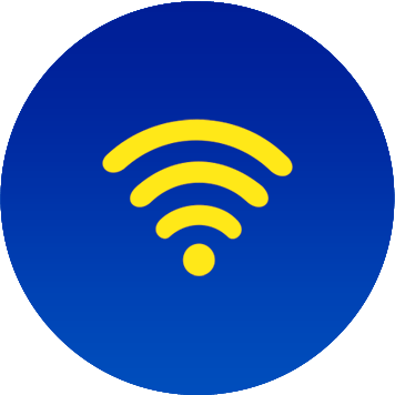 Icona WiFi gialla