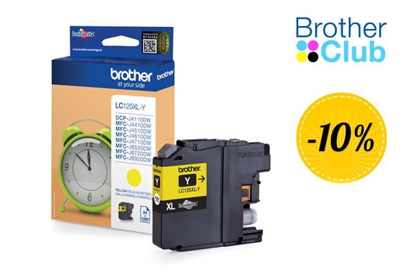 Cartuccia inkjet Brother LC125XLYP in sconto con Brother Club