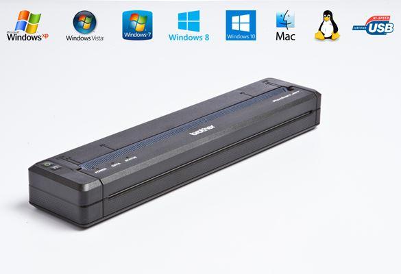 Stampante portatile Brother PJ-723 con icone funzionalità