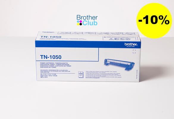 Toner Brother TN-1050 con Brother Club