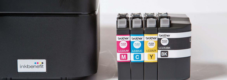 4 cartucce di inchiostro XL Brother Inkbenefit