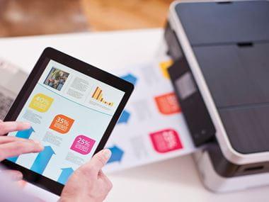 Stampa da tablet tramite app con la stampante multifunzione inkjet MFC-J4420DW