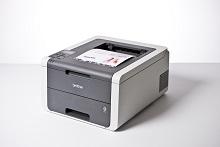 foglio a colori stampato con stampante LED a colori compatta Brother HL3140CW