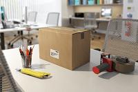ql-700 scatolone con etichetta ufficio