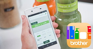 P-touch Design&Print app for printing labels to Brother P-touch CUBE label printer