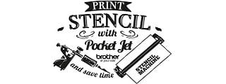 Logo Print Stencil with PocketJet Brother