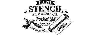 Logo Print Stencil with PocketJet Brother