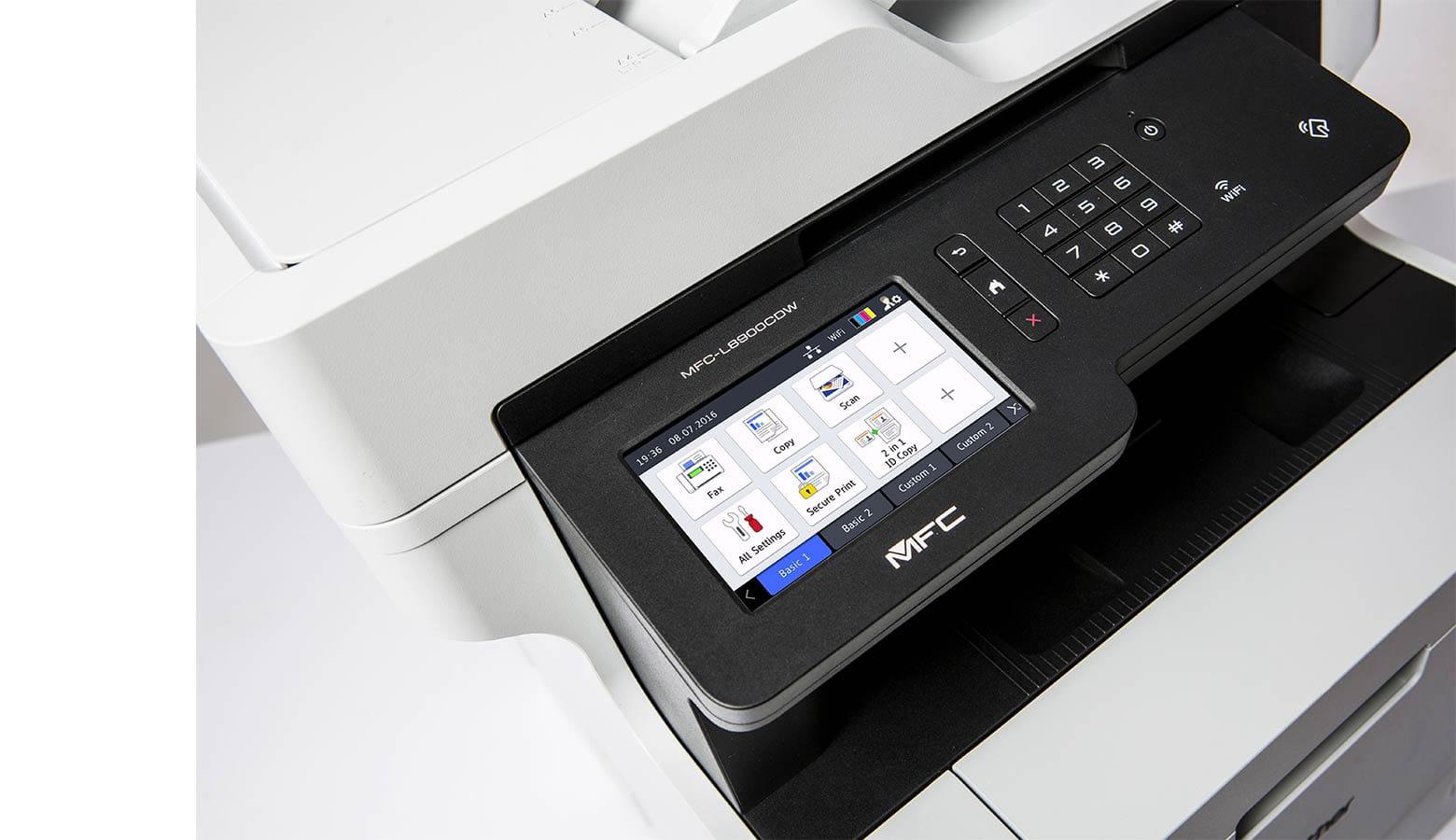 Stampante Beother MFC-L8900CDW dettaglio display soluzioni integrate