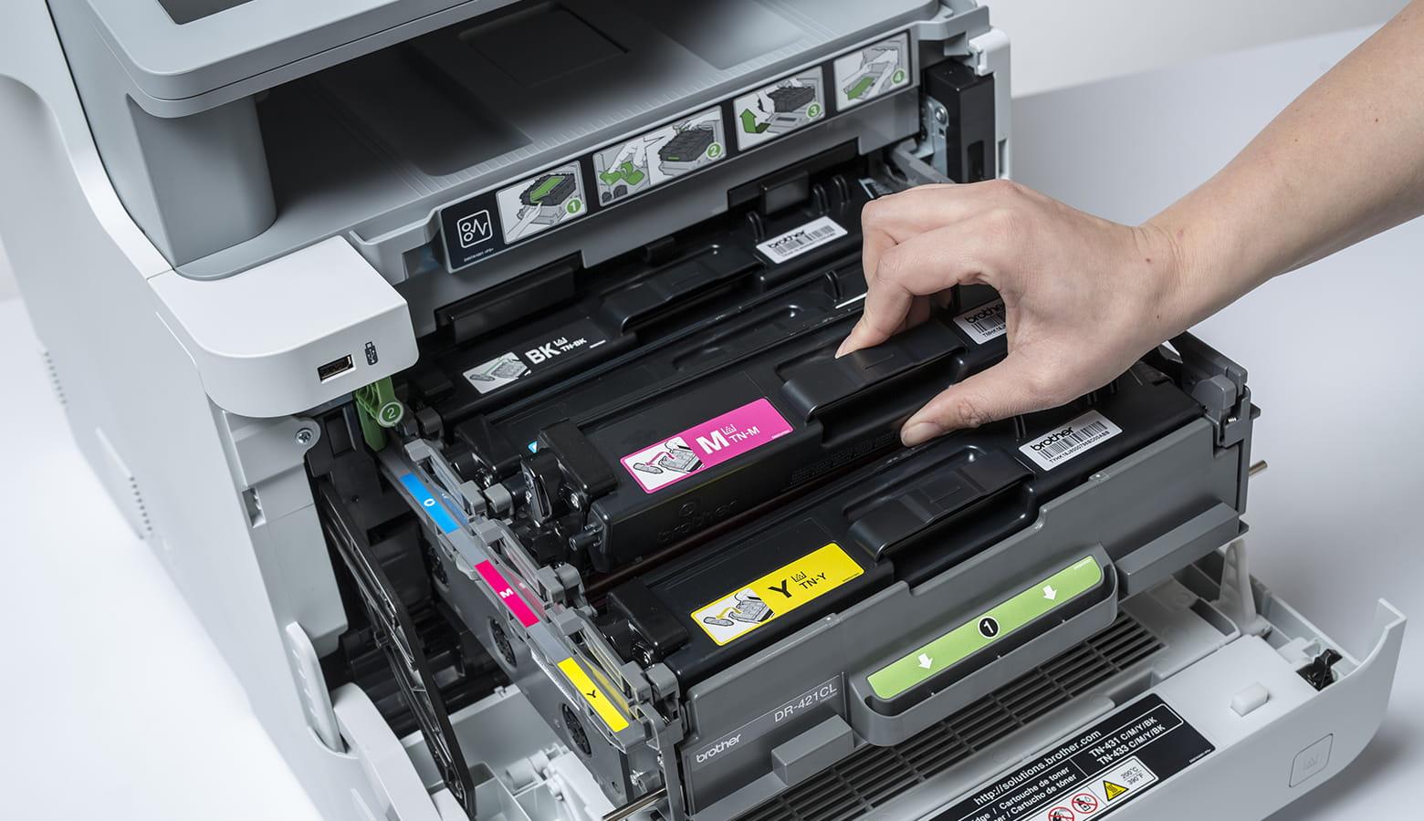Cassetto toner stampante Brother MFC-L9570CDW risparmio energetico