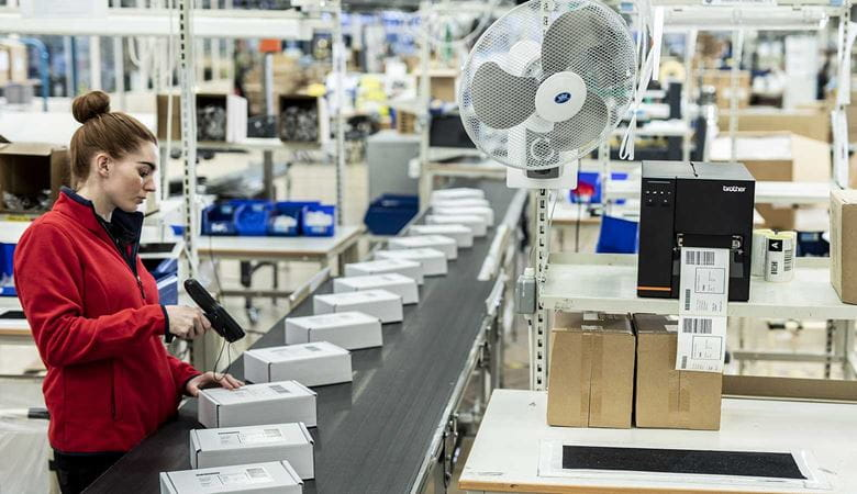 Stampante barcode industriale Brother TJ stampa etichette