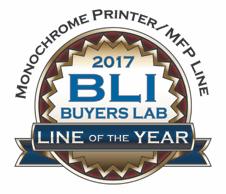 Logo BLI Line of the 2017 per stamanti e multifunzione laser monocromatici Brother