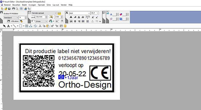 label screenshot