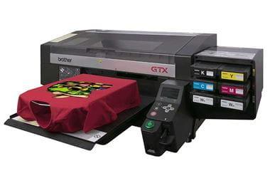 Brother textile printer printing a tshirt