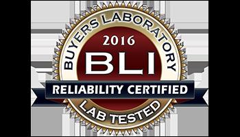 Awards - BLI Reliability Certified 2016