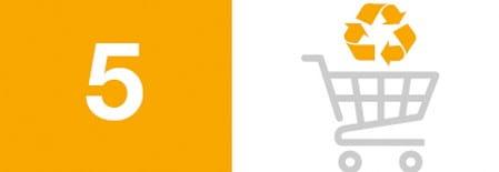 Blogg bildeikon og nummer for 10 enkle måter å hjelpe miljøet på: 5) Kjøp fra selskaper med miljøvennlige retningslinjer