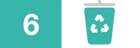 Blogg bildeikon og nummer for 10 enkle måter å hjelpe miljøet på: 6) Resirkuler din gamle eller ødelagte skriver