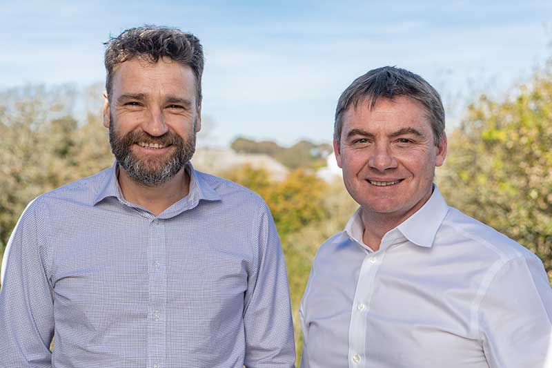 Cool Earth Director Matthew Owen and BIE Marketing Director Luc Godard