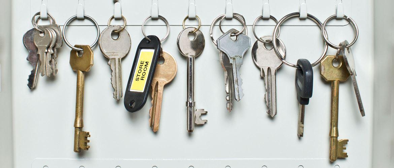 Avainkaapissa on yksi selkeästi merkitty avain
