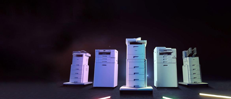 Brotherin MFC-L9570CDW, MFC-L6900DW, HL-L9310CDW, MFC-J6947DW ja HL-J6000DW ovat yrityskäyttöön suunniteltuja laitteita.
