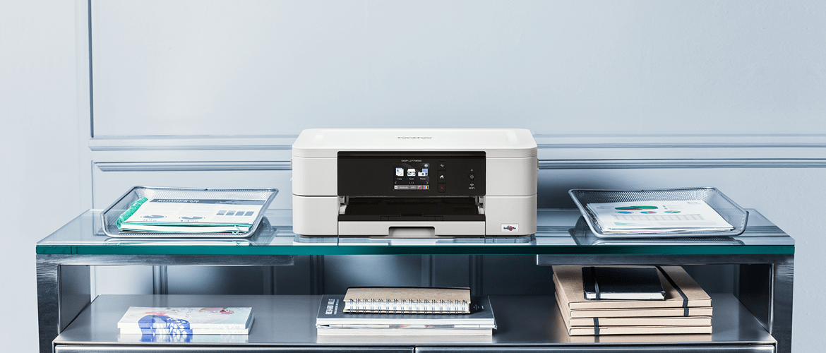 inkjet printer Brother MFC-J895DW sat on table