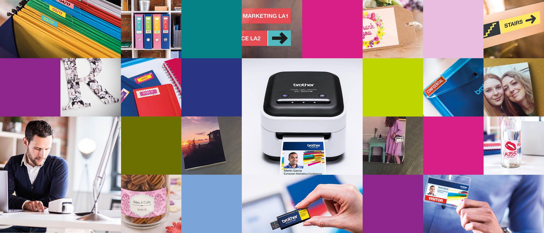 Tulosta valokuvia ja värikkäitä tarroja samalla tulostimella