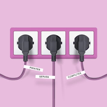 Labelled plugs