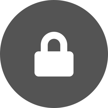 ikon med hengelås for sikkerhet