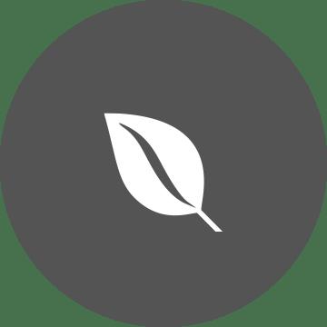 ikon med blad for holdbarhet