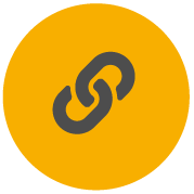 Icon for Pro-Tape showing links of a chain to indicate strong adhesives, tough materials