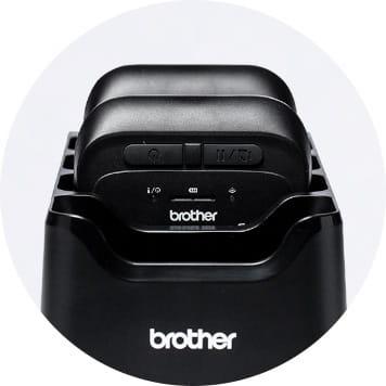 Brother RJ printers in charging cradle