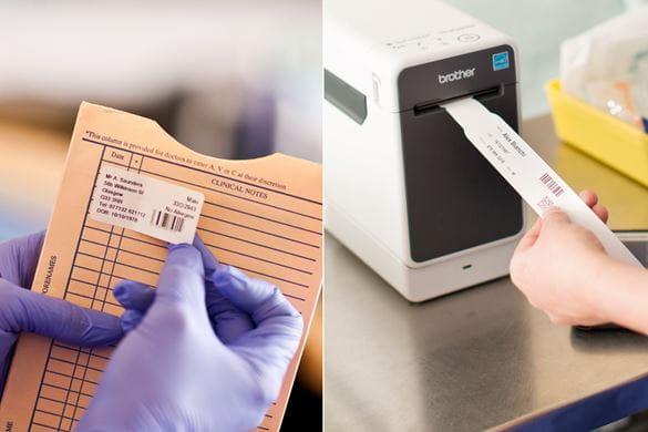Potilaskansio ja potilasranneke tarrojen tulostus