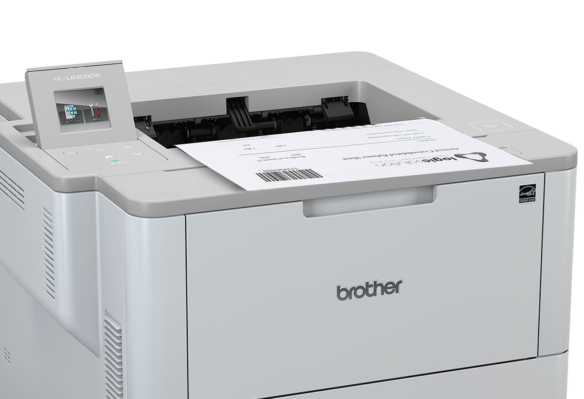 HL-L6300DW printing document with barcode