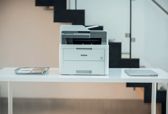 Brother lazerinis spausdintuvas biuro aplinkoje