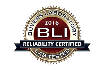 BLI Reliability Certified 2016 logo