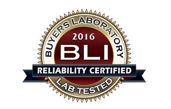 BLI 2016 Realibility Certified -luotettavuussertifikaatti