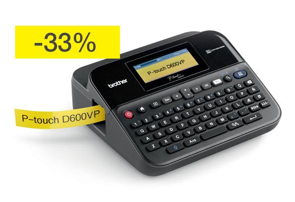 PT-D600VP-tarratulostin nyt -33 % edullisemmin!