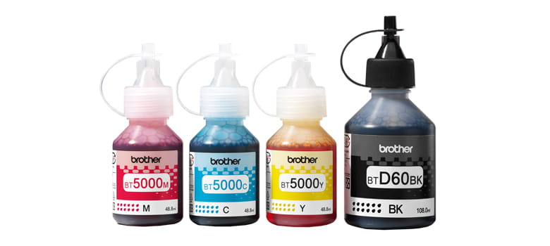 Brother InkBenefit Plus four ink bottles cmyk