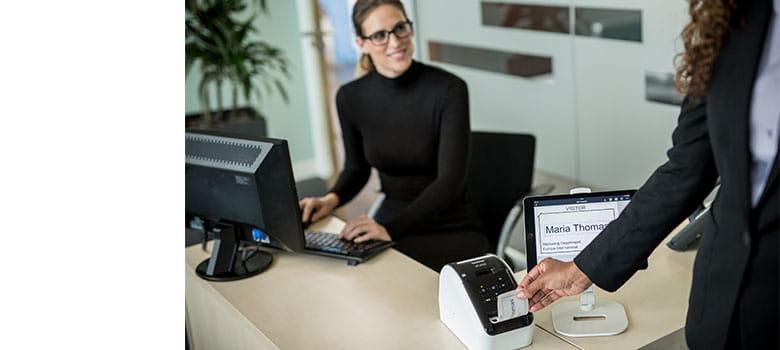 visitor management registration label