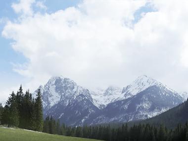 High Tantras bjerge skyer