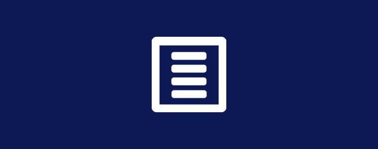 Mėlynas fonas su baltos anketos simboliu